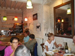 Le 16, a fashionable small bistro in the old part of Arles, has a picture of a bull on its wall.