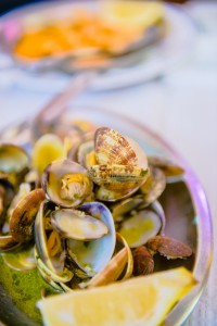 Extraordinary clams, unlike any I'd seen before,  were succulent and delicious.