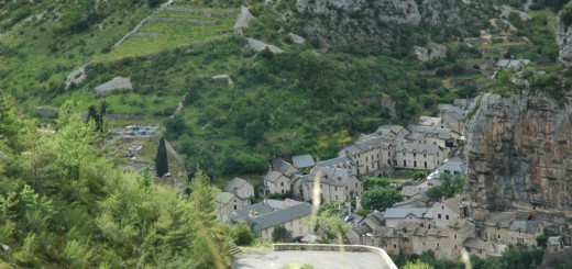 A stone village in Lozere recedes beneath us as our vehicle climbs a road carved from a one-time animal track.