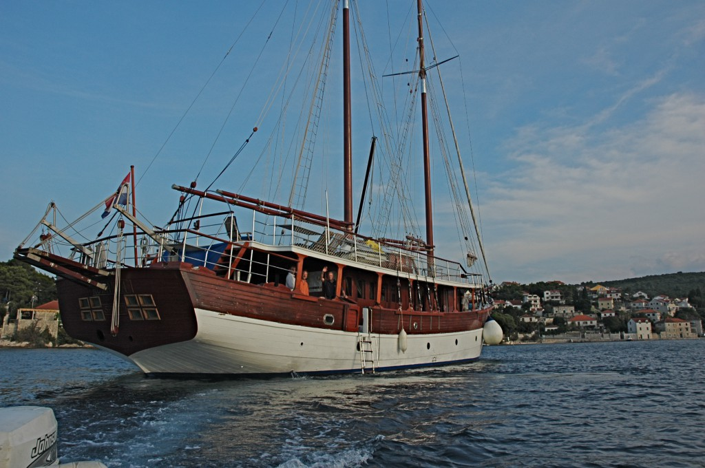 The Romanca, a hand built 100-foot wooden sailing vessel, was our home and transportation as we sailed the Adriatic among islands between Dubrovnik and Spilt along the coast of Croatia.